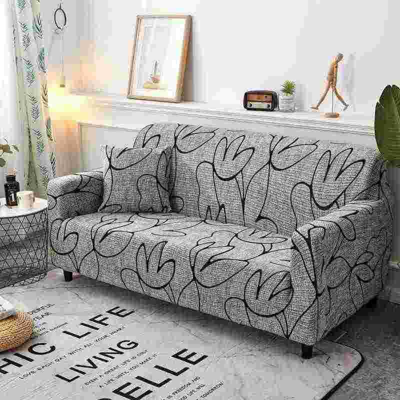Awesome Modern Style Printed Sectional Sofa Cover 1Pc One Two Three Four Seat Slipcover 100 Polyester Chaise Cover Furniture Couch Cover Andrewgaddart Wooden Chair Designs For Living Room Andrewgaddartcom