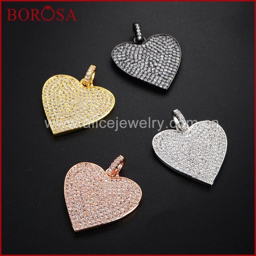 BOROSA nagykereskedelem CZ Micro Pave szívvel, karkötők - Divatékszer
