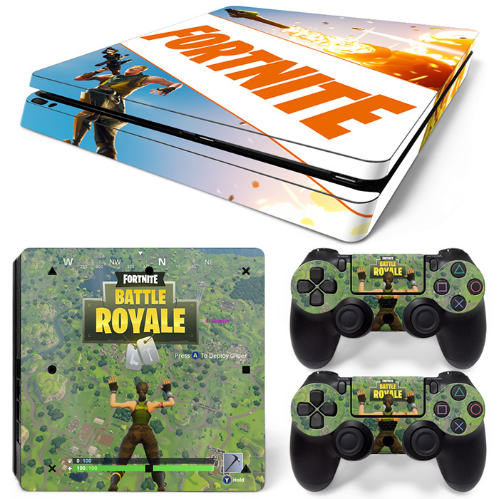 Find More Stickers Information about Game Fortnite for PS4 Slim Skin Sticker For Sony PlayStation 4 Console and 2 Controllers