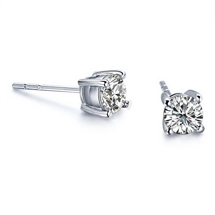carat diamonds diamond allezgisele cluster earrings in inspirational fresh white gold ct with of stud tw
