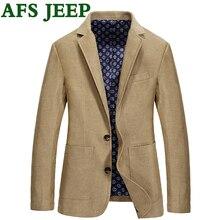 AFS JEEP 2017 new Spring Autumn Men's Casual Suit Jacket High Quality Genuine Brand Fashion Lapel men Suit Jacket Size M-3XL 135