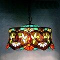18 дюймов Тиффани-барокко витражный подвесной светильник E27 110-240 В цепочка подвесные светильники для дома гостиная столовая