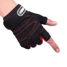 Weight Lifting Bodybuilding Gym Fitness Leather Gloves Slim Fitting Wristband Non-slip Sports Riding