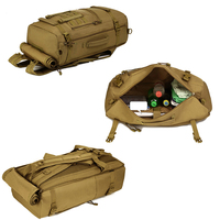 Tactical Military MOLLE Assault Backpack Pack 3 Way Modular Attachments Large Waterproof Bag Rucksack Outdoor Hiking