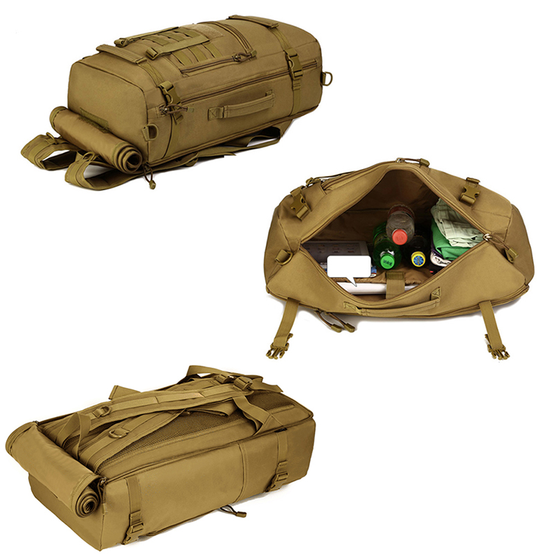 4d4e73bfa36f Tactical Military MOLLE Assault Backpack Pack 3 Way Modular Attachments  Large Waterproof Bag Rucksack Outdoor Hiking Gear 50L