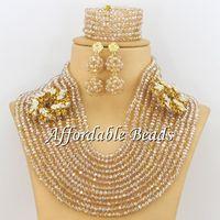 Gold Indian Jewelry Set Wedding Popular African Costume Jewelry Handmade Design Wholesale ABW129