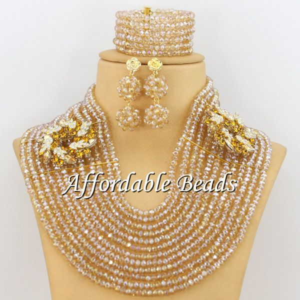 Bulk African Jewelry Gold Indian Jewelry Set Wedding Popular African Costume