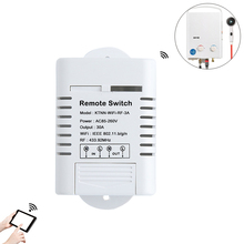 30A Wifi Relay Switch for Water Heater AC 110V 220V 1CH Smart Home Receiver Remote Control and Manual APP