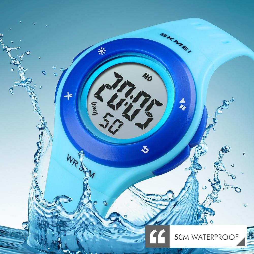 SKMEI New Kids Watches Boys Sport Digital Watch Gift For Girls Students Waterproof Alarm Electronic Children Watch Montre Enfant