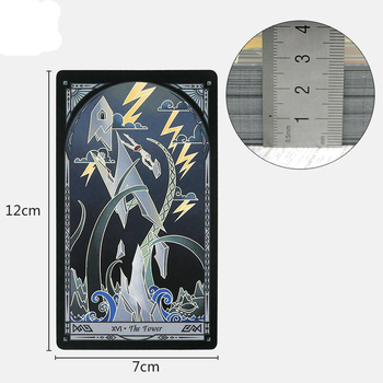 Full English Broken Mirror Tarot Cards Factory Made High Quality Tarot Deck Board Game Cards