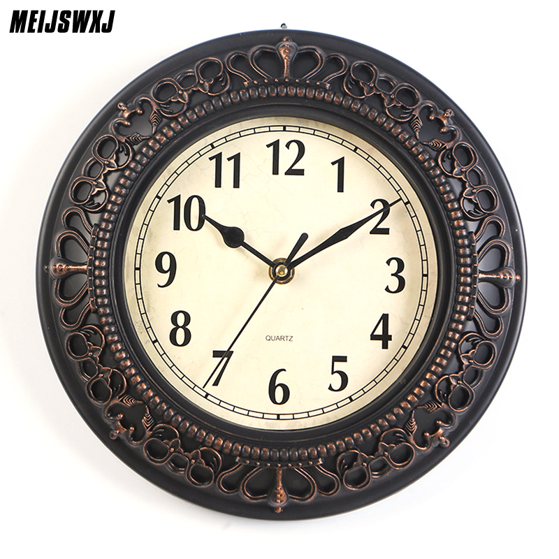 10 Inches European Style Home Decor Wall Clock Vintage Nordic Numeral Round Wall Clock Modern Design Clocks For Home Decor