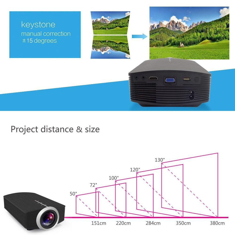 Image 3 - ThundeaL YG500 YG510 Gm80a Mini Projector 1800 Lumens LED LCD VGA HDMI AC3 Beamer Support 1080P YG500A 3D Portable Projector-in LCD Projectors from Consumer Electronics