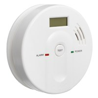 NEW Safurance 120V AC DC Smoke Alarm Warning 85db 4V Carbon Monoxide F Ire CO Detector