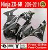 High Quality Fairings For Kawasaki 2009 2010 2011 2012 ZX6R Parts 09 10 11 12 Black