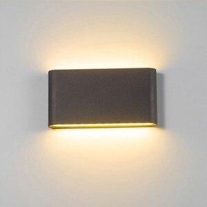 Image 1 - Уличная светодиодная настенная лампа, 6 Вт, 12 Вт, бра для крыльца, декоративная лампа для коридора, водонепроницаемый садовый светильник для дорожек, ландшафта, 110 В, 220 В