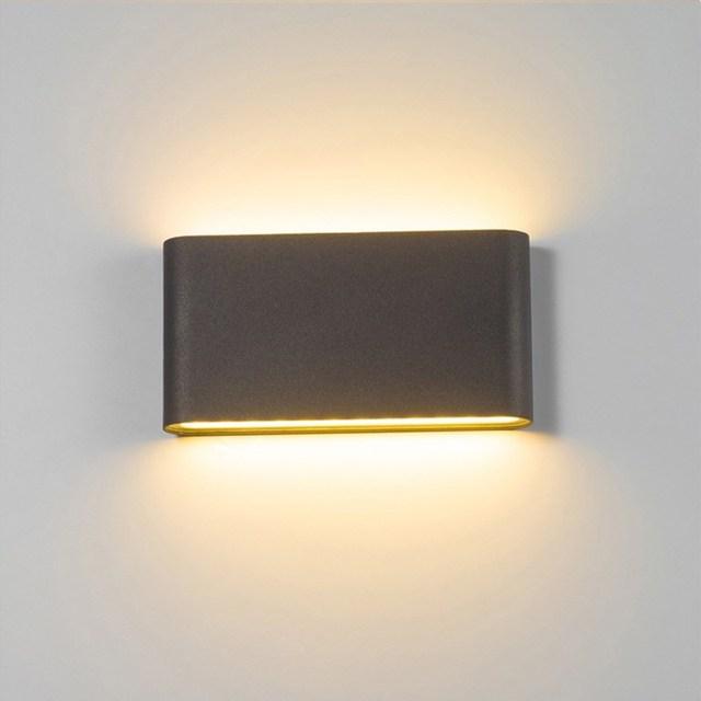 Уличная светодиодная настенная лампа, 6 Вт, 12 Вт, бра для крыльца, декоративная лампа для коридора, водонепроницаемый садовый светильник для дорожек, ландшафта, 110 В, 220 В