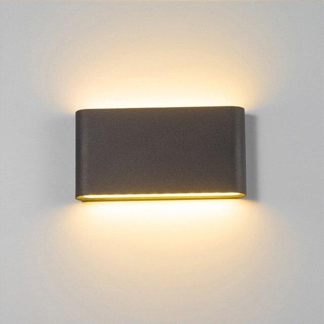 LED Outdoor Wall Lamp 6W 12W Porch Light Sconce Corridor Decoration Lamp Waterproof Garden Path Landscape Lighting 110V 220V