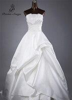 Poems Songs 2017 High Quality Lustrous Satin Style Off The Shoulder Wedding Dresses Vestido De Noiva
