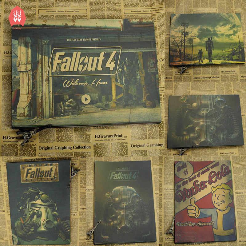 Vintage Fallout 3 4 jeu affiche Bar enfants chambre décor à la maison jeu dessin rétro Kraft papier mur autocollant décoration stickers muraux