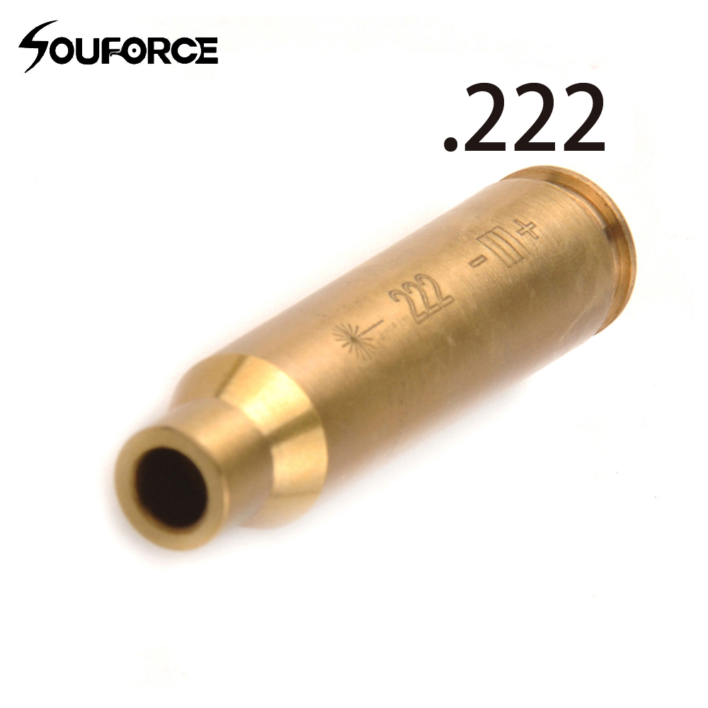 Hunting .222 REM MAG Cartridge Red Laser Bore Sighter Copper Boresight / Boresighter Free Shipping