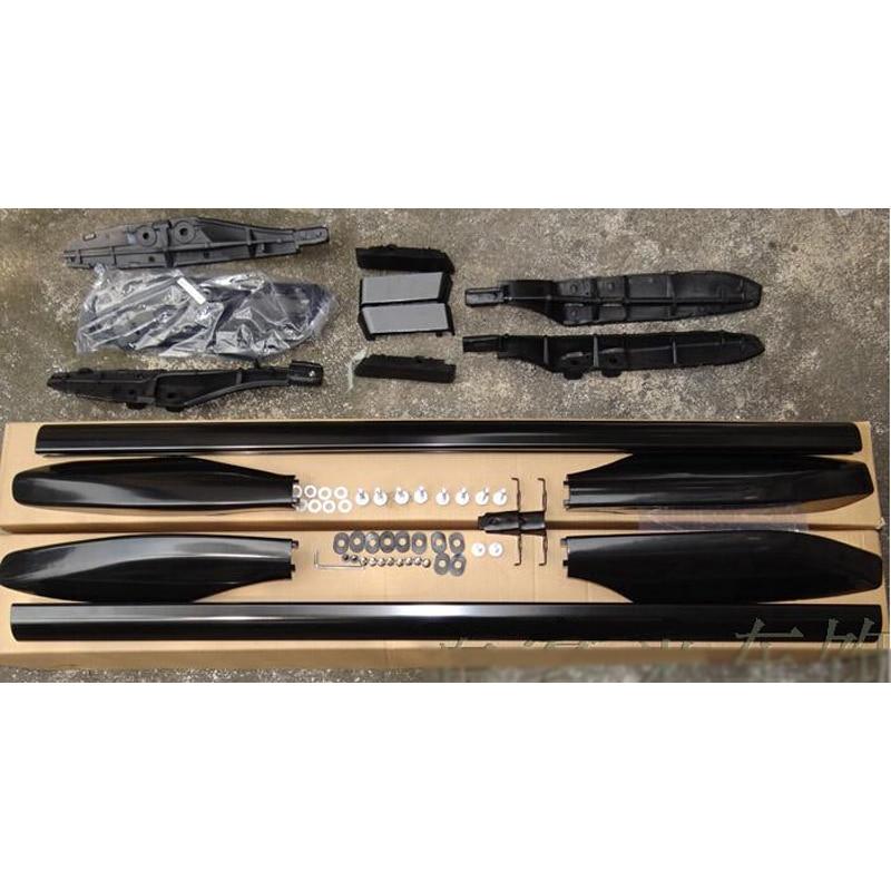 1set Exterior Black Color Roof Rack Rails Roof luggage rack For Toyota Prado FJ120 2003 2004 2005 2006 2007 2008 2009