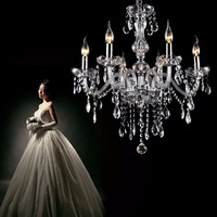 Ship from Germany! Crystal Chandelier Lights Pendant 6 Arm Candle Candelabro de cristal Pendant Hanging Ceiling Fixtures