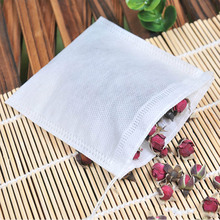 100 шт медсин сумки 6*8 см Нетканые уплотнения фильтр шнурок мешок многофункциональные чайные пакеты для приготовления трав специй инструменты кофе мешки