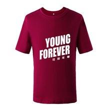 Camiseta para hombre del verano siempre letra Funny Harajuku Punk Hip Hop  ropa camiseta BTS Bangtan niños camiseta coreana kpop . 844895efa2c
