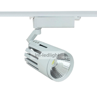 dimmable LED track lighting 20w Bridgelux COB led rail warm/netural/pure white led lights mall fast free shipping 30pcs