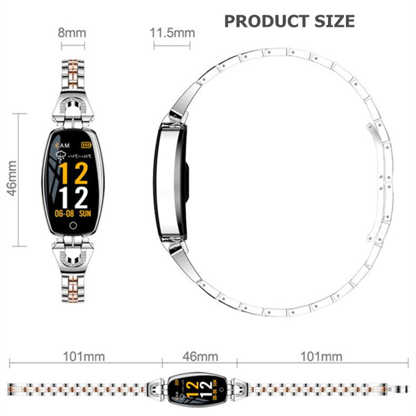Image 5 - ASKMEER H8 женские Смарт часы фитнес Браслет спортивный водонепроницаемый монитор сердечного ритма Bluetooth для IOS Android Smartwatch подарок для девочки-in Смарт-часы from Бытовая электроника on AliExpress - 11.11_Double 11_Singles' Day