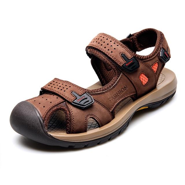 Vietnam Sandalias Sandals Men's Summer Shoes Beach 2017 Leather v8ynwN0Om