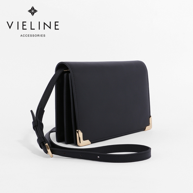 Vieline  women genuine leather leather  Flap crossbody bag ,  real leather  shoulder bag, casual clutch bag-Designer Brand