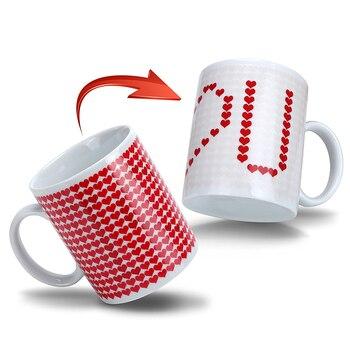 Creative I love You tasses magiques changement de température tasse changement de couleur caméléon tasses sensible à la chaleur tasse café thé lait tasse