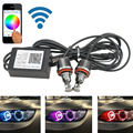 2x RGBW изменение Цвета Wi-Fi управления H8 36 Вт ANGEL EYES Фары HALO LED Cree чипы Для BMW E82 E87 E92 E93 E60 E61 E90 E91 E92 E93