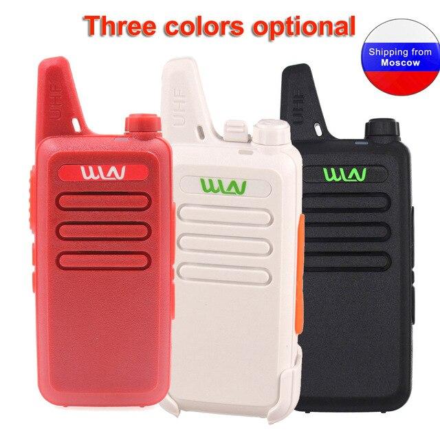ANYSECU Walkie Talkie WLN KD C1 Mini Radyo UHF 400 470 MHz 5 W 16 Kanal MINI el telsizi Üç renk Isteğe Bağlı