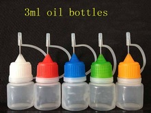 Butelka z tworzywa sztucznego 3 ml pusty igły butelki z kroplomierzem elektroniczny papieros cieczy w butelkach e ciecz butelki oleju 1000 sztuk partii tanie tanio Wielokrotnego napełniania butelek