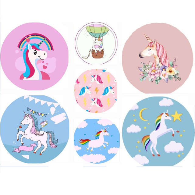 Unicorn Lovely Dream Polyester Beach Towel Animal Printed Horse Pink and Blue Beach Sitting Blanekt Shawl Cushion Child blanket