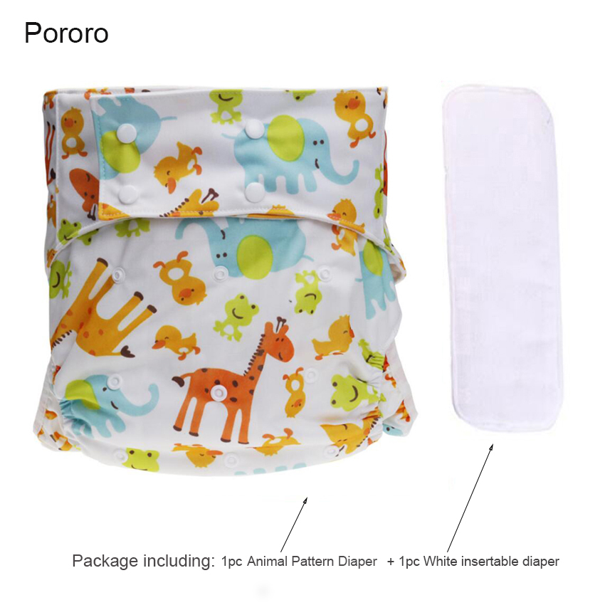 1Set Adult Cloth Diaper Washable Breathable Adjustable Pocket Diaper Reusable Animal Diapers Mat Waterproof Adult Diaper D50