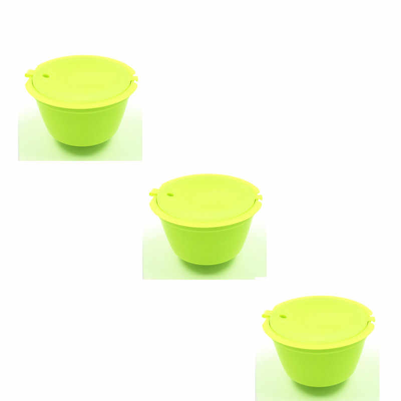 3 unidades/pacote usar 150 vezes Reutilizáveis Dolce Gusto Cápsula De Café, Compatível Recarregáveis de Plástico Cestas De Filtro De Café Dolce Gusto