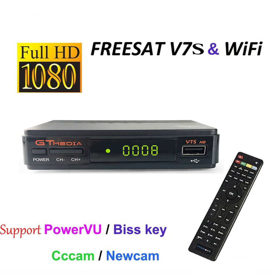 SmileMango Freesat V7S DVB-S2 Satellite TV Receiver Support PowerVu Biss Key Cccamd Newcamd Youtube Youporn USB Wifi Set Top Box gerber 130 1