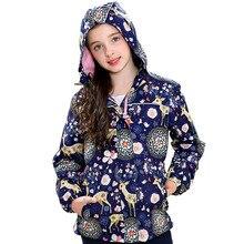 Jaqueta polar impermeável para meninas, casaco feminino à prova de vento e à prova dágua para outono e inverno 2020