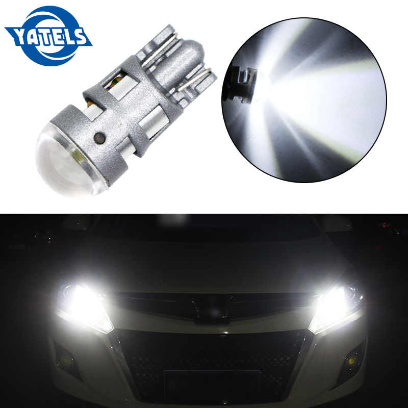 1pcs T10 LED Car Light 1 SMD 3030 Marker Lamp W5W WY5W 192 501 2SMD Tail Side Bulb Wedge Parking Dome Light Canbus Auto Styling