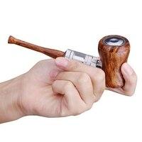 Tsondianz New Style E Pipe Kit Electronic Hookah Pen 1050mAh Power Wooden Design E Pipe 30W Retro Electronic Cigarette Vape Pen