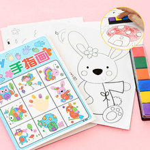 8pcs/lot Kids Toy Anime Drawing Set Cards Stickers Diy Coloring Books for Kids Water Drawing Book Hand Spinner Toys for Children