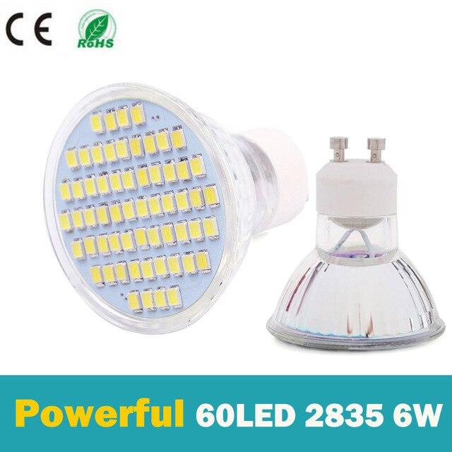 10 stkspartij volledige watt 6 w gu10 led lamp ac 220 v hittebestendig glas