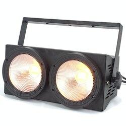 Led oślepiające światło 2 oczy 2x100w 200W LED rgbwa uv 6w1 ciepłe białe LED COB lampa par dj stroboskop oświetlenie sceniczne w Oświetlenie sceniczne od Lampy i oświetlenie na