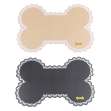 Fashion Silicone Non-slip Pet Dog Food Mat Cute Bone-shaped Feeding Keeps Floors Clean While For Or Cat Hot Sale
