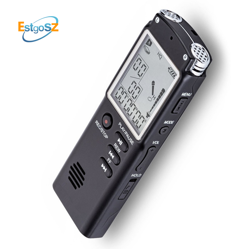 EStgoSZ Original Voice Recorder USB Professional 96 Hours Dictaphone Digital Audio Voice Recorder With WAV,MP3 Player 8G/16G ...