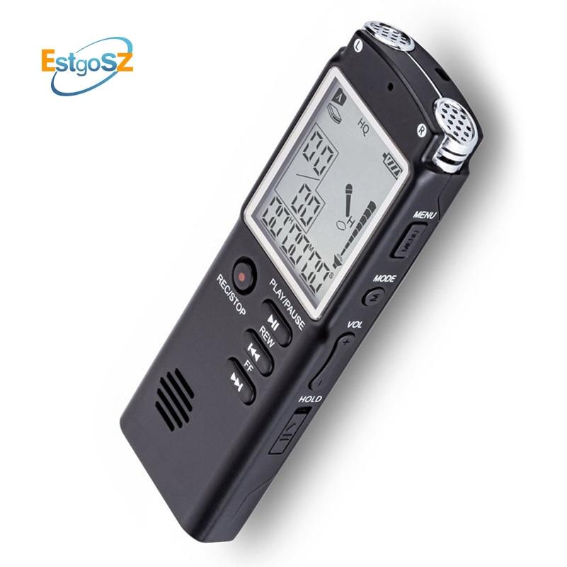 EStgoSZ Original Voice Recorder USB Professional 96 Hours Dictaphone Digital Audio Voice Recorder With WAV,MP3 Player 8G/16G