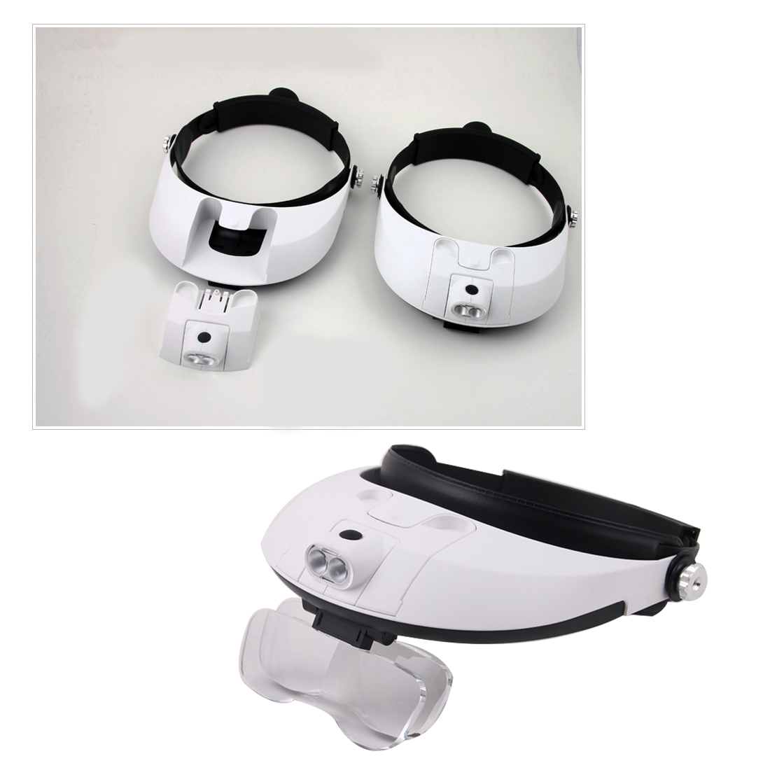 5Lens 2.5x 1.0x 1.5x 2.0x Headband Binoculars Third Hand Magnifier Light Jewelry Repair Reading Magnifying Glass Dental Loupes new portable 45x magnifier magnifying glass with light detachable reading engraving jewelry glasses loupes